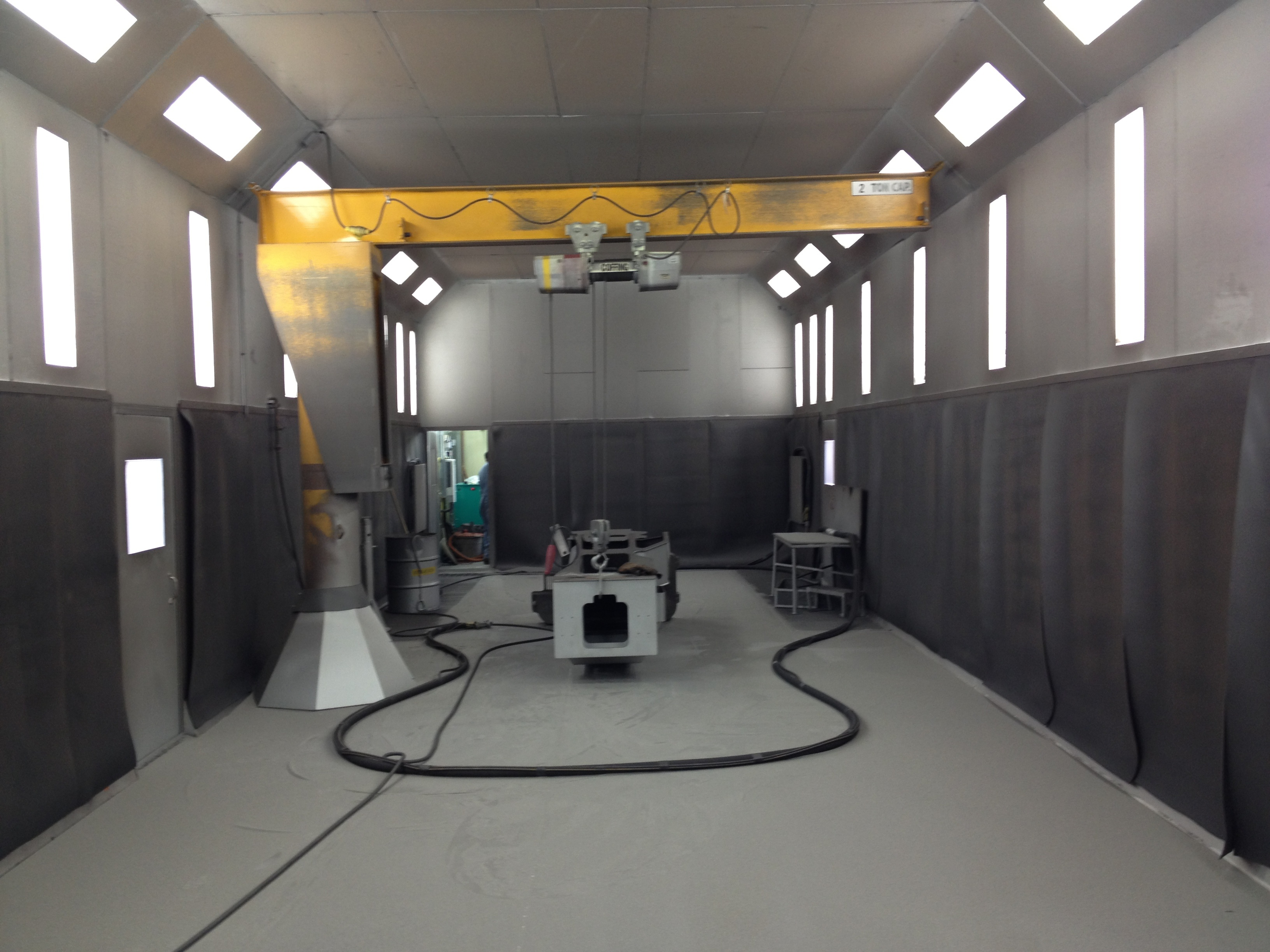 Custom Design Abrasive Blast Booth and collection system