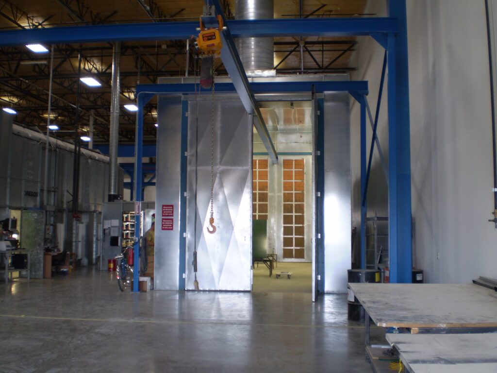 Crossflow with conveyor railing system