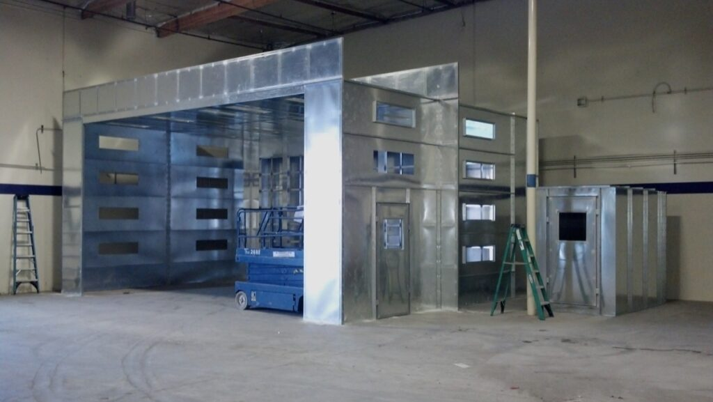 Open Front Paint Booth