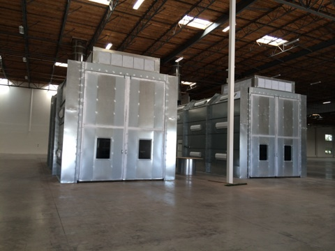 Semi Downdraft Paint Booths