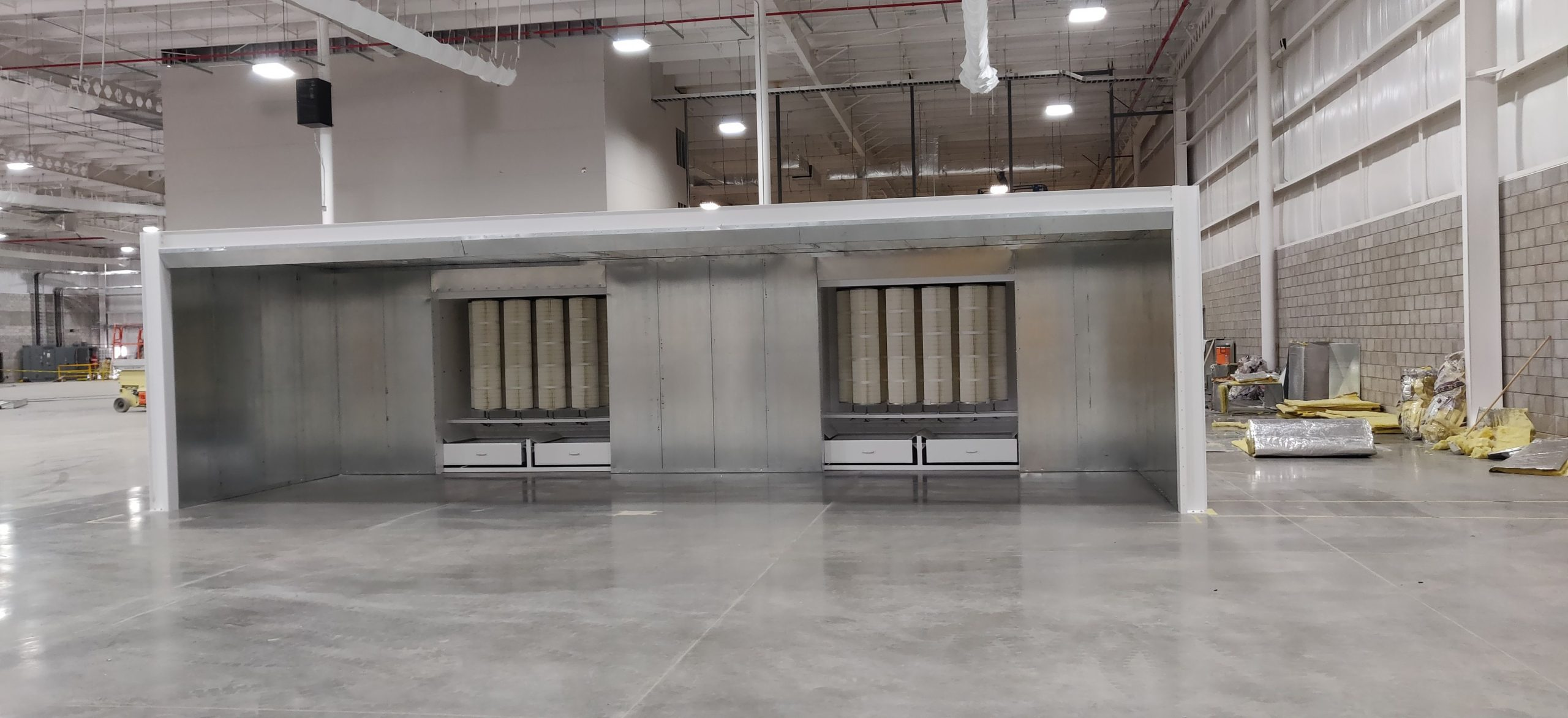 Cartridge Batch Powder Booths Industrial Finishing Systems